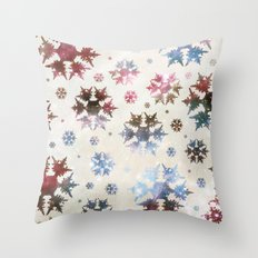 Star Snow Throw Pillow