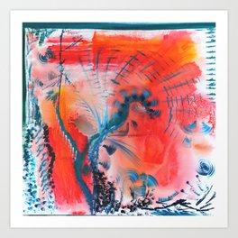 Joyous Lines Art Print