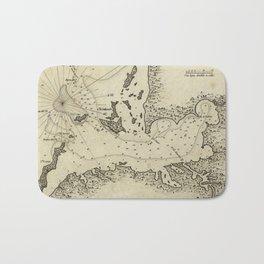 Vintage Map of Tampa Florida (1809) Bath Mat