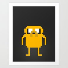 jake pixel Art Print