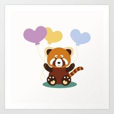 Lovely Red Panda Art Print