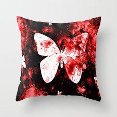 Butterfly Splatter Throw Pillow