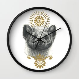 Beasts of the forest: Pine Marten Wall Clock