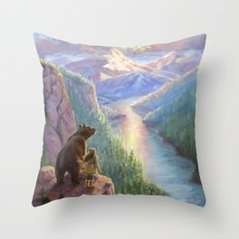 The Last Frontier Throw Pillow
