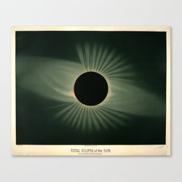 Total solar eclipse by Étienne Léopold Trouvelot (1878) Canvas Print