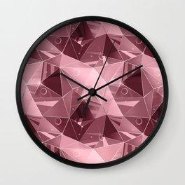 Abstract polygonal pattern.3 Wall Clock