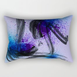 Japanese Style Abstract on Lavender Rectangular Pillow