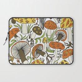 Hand-drawn Mushrooms Laptop Sleeve