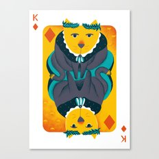 Cat the King of Diamonds Canvas Print