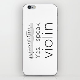 I speak violin iPhone Skin