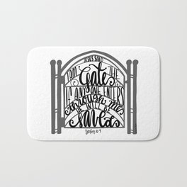 John 10:9 - Jesus saves Bath Mat