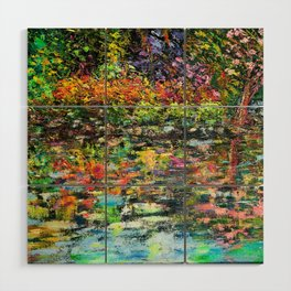 Hidden Peace - Oils with palette knife.   Wood Wall Art