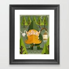 The elf Framed Art Print