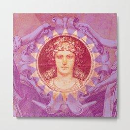 Pink German Mark Metal Print