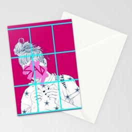 Sad Girl model 1 Stationery Cards