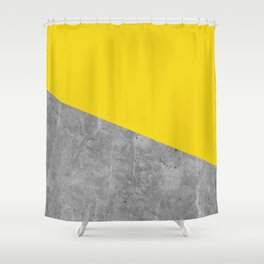 Geometry 101 Vivid Yellow Shower Curtain