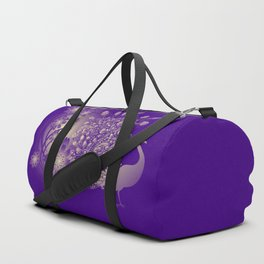 The Midnight Peacock Duffle Bag