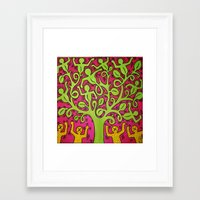 keith haring Framed Art Prints featuring Copy of Tree of Life - Keith Haring by JeyJey Artworks