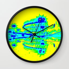 Colosseum Abstract Wall Clock