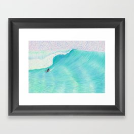SURF GUITAR no. 2 | WATER COLOR Framed Art Print
