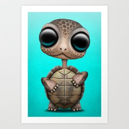 Cute Baby Turtle Art Print