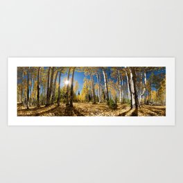 Crested Butte Colorado Fall Colors Panorama - 3 by OLena Art Art Print