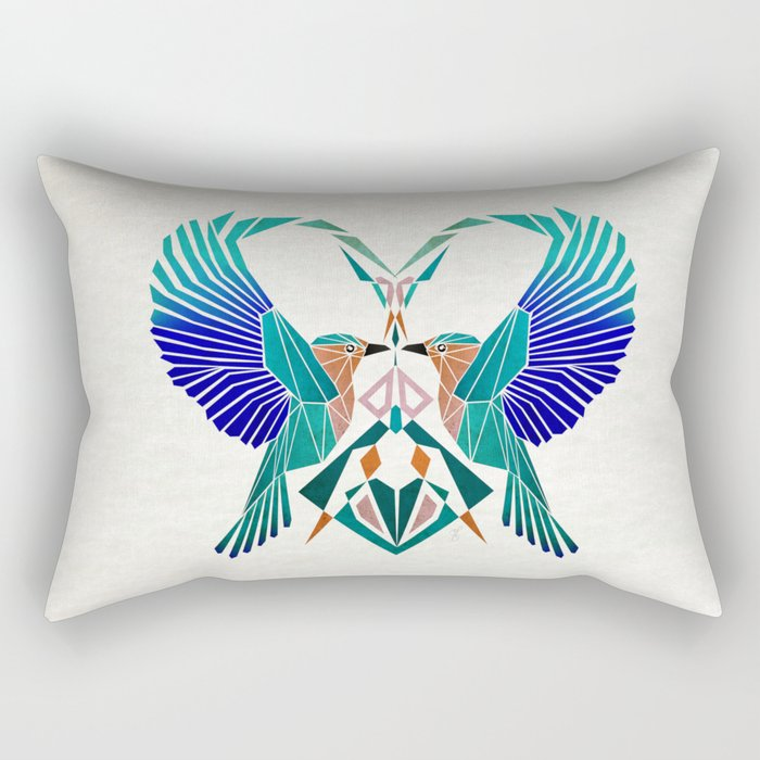 couple of blue birds Rectangular Pillow