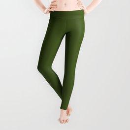 Dark Moss Green - solid color Leggings
