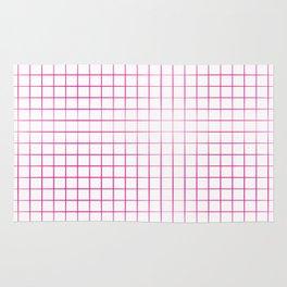 Fuchsia Grid, Pink Grid, Hot Pink Grid Rug