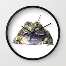 Bullfrog Snacking Wall Clock