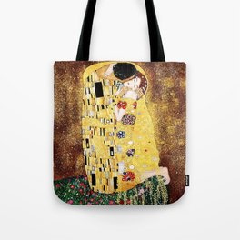 The Kiss with Painterly Effect Tote Bag