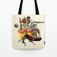 germany Tote Bags featuring Germany by Rose's Creation