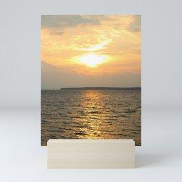 Vertical Sunrise over Lake Huron Mini Art Print