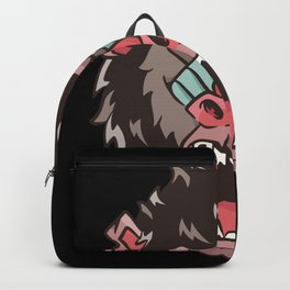 Gorilla Monkey Face Gift Monkeys Lovers Backpack
