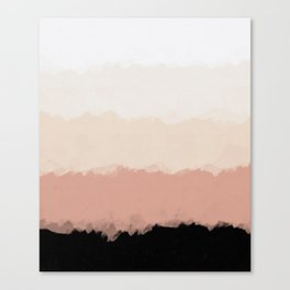 Abstract Rose Color Flora Blush Canvas Print