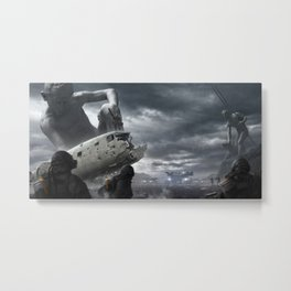 Railgun Wars Metal Print