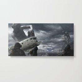 Railgun Wars Metal Print