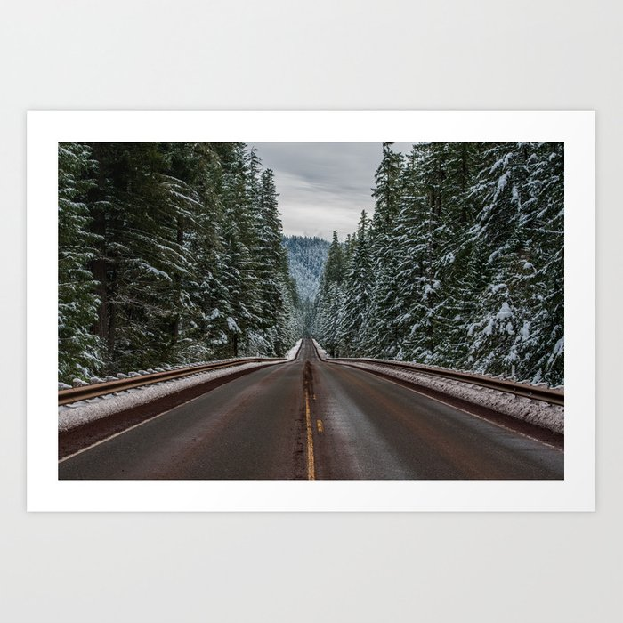 Winter Road Trip - Pacific Northwest Nature Photography Kunstdrucke