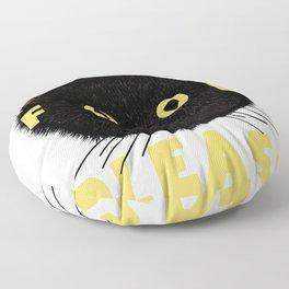Food Please! Black Cat Floor Pillow