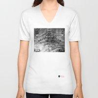 ouija V-neck T-shirts featuring Modern Ouija by Capadochio