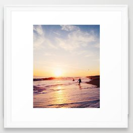 Newport Beach at Sunset Framed Art Print