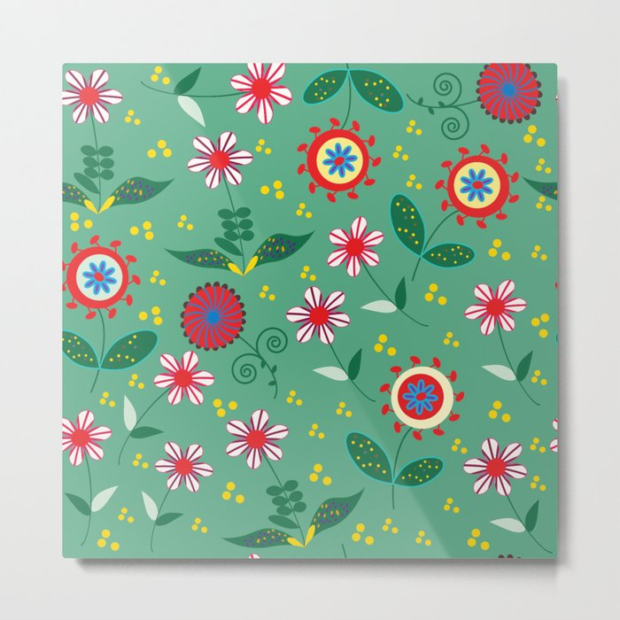 Floral pattern # C10 Metal Print
