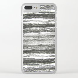 abstract charcoal drawing Clear iPhone Case