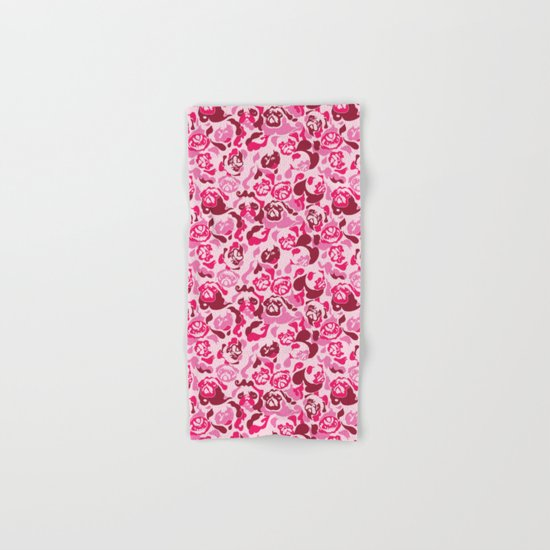 Pug Camouflage Pink Hand & Bath Towel
