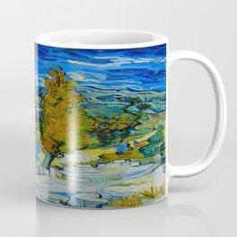 Vincent Van Gogh Beautiful Night Oil Painting Poplars at Saint-Rémy, October 1889 Landscape Coffee Mug