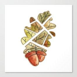 Oak leaf and acorns Canvas Print