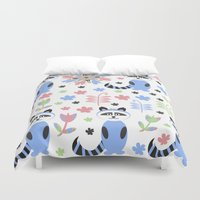 racoon Duvet Covers featuring Racoon pattern  by luizavictoryaPatterns