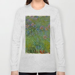 "Claude Monet ""Agapanthus Flowers"" Long Sleeve T-shirt"