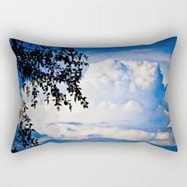 Mountain Shaped Clouds Rectangular Pillow