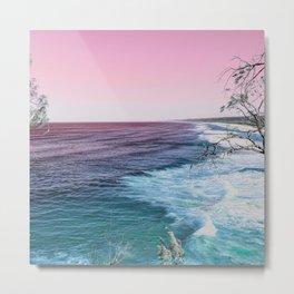 Psychedelic Stradbroke Island Beach Photography Print Metal Print